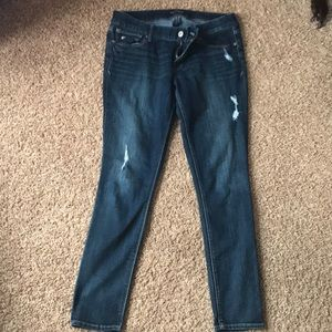 Distressed Express Jean legging